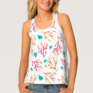 Finding Dory Watercolor Coral Pattern Tank Top