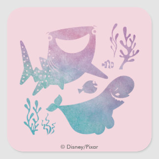 Finding Dory Watercolor Graphic Square Sticker