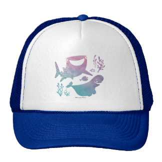 Finding Dory Watercolor Graphic Trucker Hat