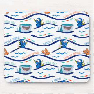 Finding Dory Wave Pattern Mouse Pad