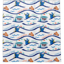 Finding Dory Wave Pattern Shower Curtain