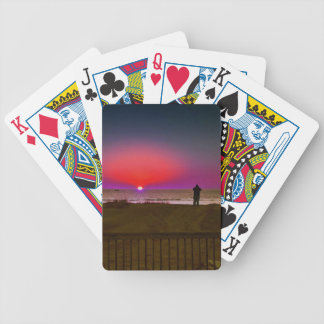 Finding Harmony in Balance Beach Sunrise Meditatio Bicycle Playing Cards