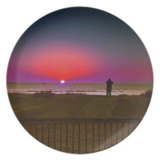 Finding Harmony in Balance Beach Sunrise Meditatio Melamine Plate