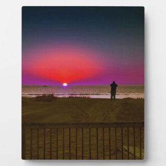 Finding Harmony in Balance Beach Sunrise Meditatio Plaque