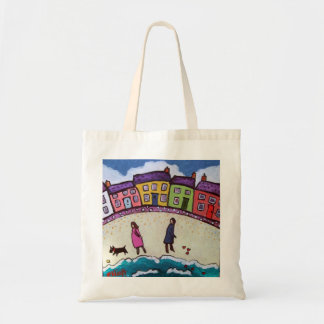 finding love on the beach by Helen Elliott Budget Tote Bag