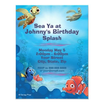 disney Finding Nemo Birthday Invitation