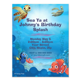 Finding Nemo Birthday Invitation 4.25