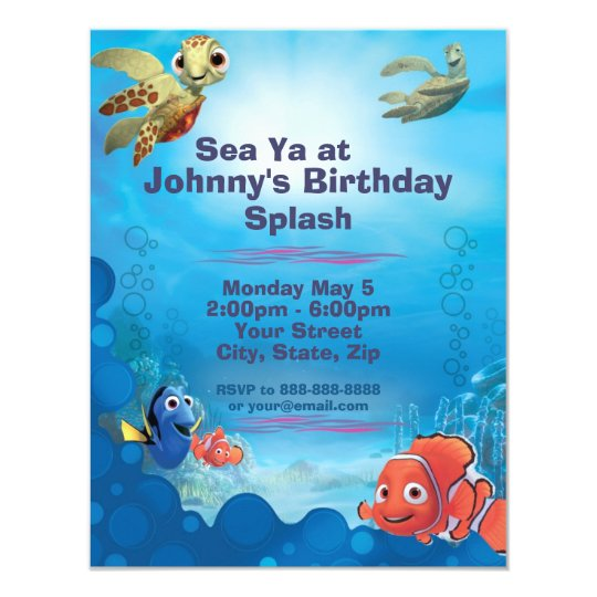 Finding Nemo Birthday Invitation | Zazzle.com