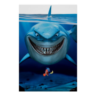 Finding nemo posters zazzle finding nemo bruce grinning poster thecheapjerseys Gallery