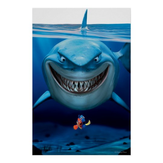 Finding nemo bruce grinning poster zazzle finding nemo bruce grinning poster altavistaventures Image collections