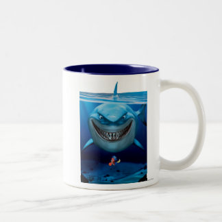 Finding Nemo | Bruce Grinning Two-Tone Coffee Mug