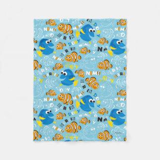 Finding Nemo   Dory and Nemo Pattern Fleece Blanket