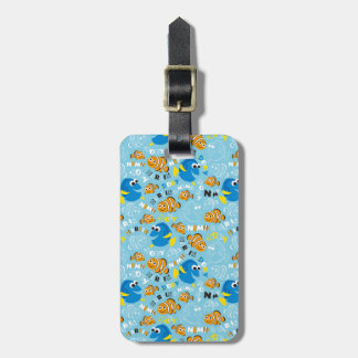 Finding Nemo | Dory and Nemo Pattern Luggage Tag