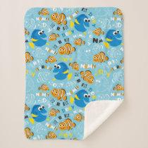 Finding Nemo | Dory and Nemo Pattern Sherpa Blanket