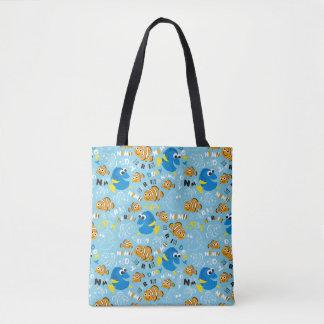 Finding Nemo | Dory and Nemo Pattern Tote Bag