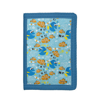 Finding Nemo | Dory and Nemo Pattern Tri-fold Wallet