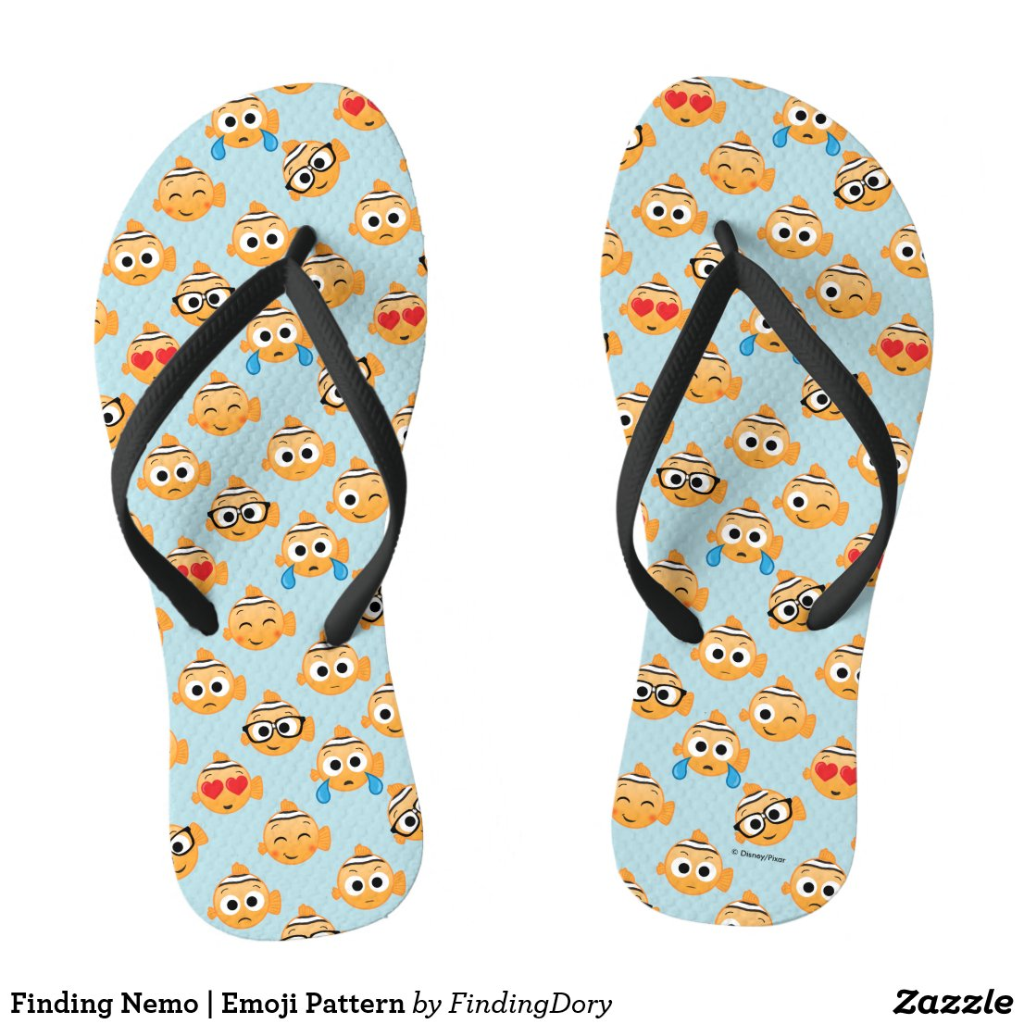 Finding Nemo | Emoji Pattern Flip Flops