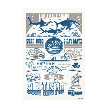 Disney Themed Finding Nemo | I Am A Nice Shark Canvas Print