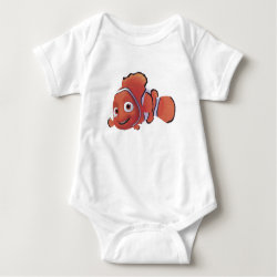 Baby Jersey Bodysuit with Cute Nemo of Finding Nemo design