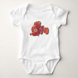 Baby Jersey Bodysuit with Cute Nemo of Finding Nemo design