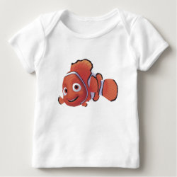 Baby Fine Jersey T-Shirt with Cute Nemo of Finding Nemo design