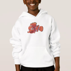 Girls' American Apparel Fine Jersey T-Shirt with Cute Nemo of Finding Nemo design