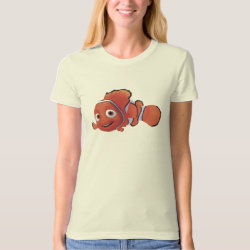 Women's American Apparel Organic T-Shirt with Cute Nemo of Finding Nemo design