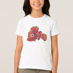 Cute Nemo of Finding Nemo Girls' American Apparel Fine Jersey T-Shirt
