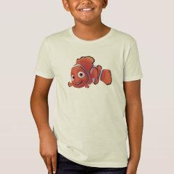 Kids' American Apparel Organic T-Shirt with Cute Nemo of Finding Nemo design
