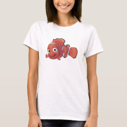 Women's Basic T-Shirt with Cute Nemo of Finding Nemo design