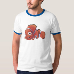 Cute Nemo of Finding Nemo Men's Basic Ringer T-Shirt