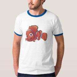 Men's Basic Ringer T-Shirt with Cute Nemo of Finding Nemo design