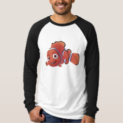 Cute Nemo of Finding Nemo Men's Canvas Long Sleeve Raglan T-Shirt