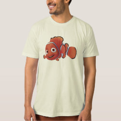 Men's American Apparel Organic T-Shirt with Cute Nemo of Finding Nemo design