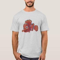 Men's Basic T-Shirt with Cute Nemo of Finding Nemo design