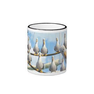 Finding Nemo Seagulls on ropes Coffee Mugs