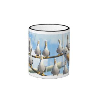 Finding Nemo Seagulls on ropes Ringer Coffee Mug