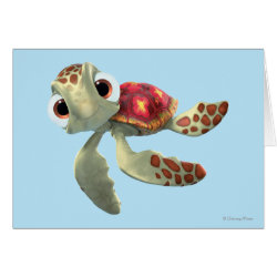Greeting Card with Cute baby sea turtle Squirt of Finding Nemo design