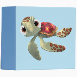 Avery Signature 1' Binder with Cute baby sea turtle Squirt of Finding Nemo design