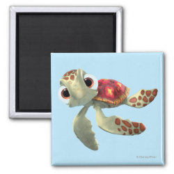 Square Magnet with Cute baby sea turtle Squirt of Finding Nemo design