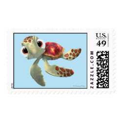 Medium Stamp 2.1' x 1.3' with Cute baby sea turtle Squirt of Finding Nemo design