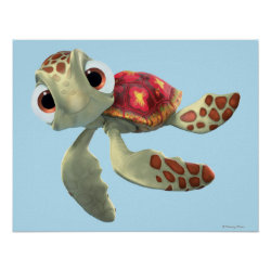Matte Poster with Cute baby sea turtle Squirt of Finding Nemo design