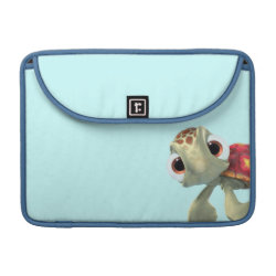 Macbook Pro 13' Flap Sleeve with Cute baby sea turtle Squirt of Finding Nemo design