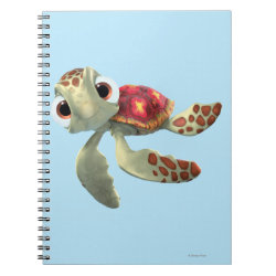 Photo Notebook (6.5' x 8.75', 80 Pages B&W) with Cute baby sea turtle Squirt of Finding Nemo design