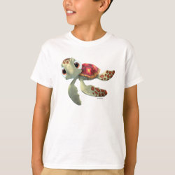 Kids' Hanes TAGLESS® T-Shirt with Cute baby sea turtle Squirt of Finding Nemo design