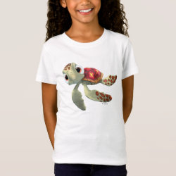 Girls' Fine Jersey T-Shirt with Cute baby sea turtle Squirt of Finding Nemo design