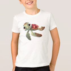 Kids' American Apparel Fine Jersey T-Shirt with Cute baby sea turtle Squirt of Finding Nemo design