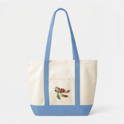 Impulse Tote Bag with Cute baby sea turtle Squirt of Finding Nemo design