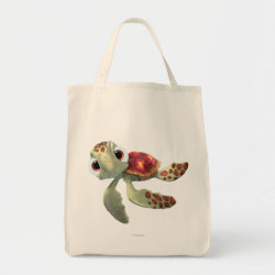 Grocery Tote with Cute baby sea turtle Squirt of Finding Nemo design