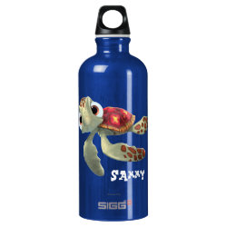 SIGG Traveller Water Bottle (0.6L) with Cute baby sea turtle Squirt of Finding Nemo design